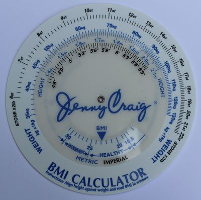 BMI Calulator with Jenny Craig logo