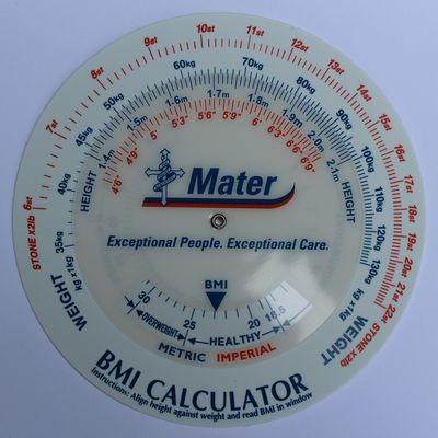 BMI Calculator Wheels with logo