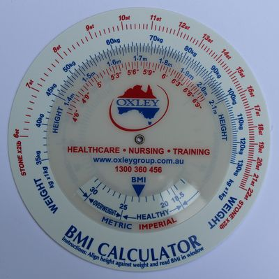BMI Calculator with company logo